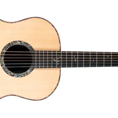 Washburn Bella Tono Elegante S24S Acoustic Studio Size Guitar, Natural Gloss