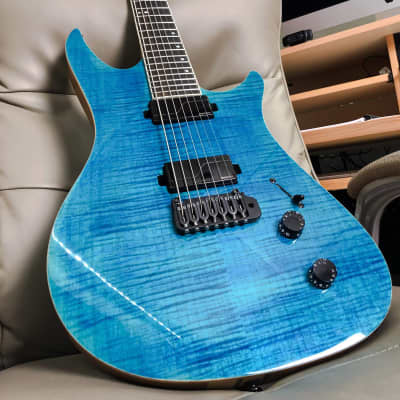 Balaguer Archetype 7 2019 Blue Flamed Maple for sale