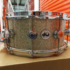 DW Maple Mahogany Snare Drum DW Drums  2017 Broken Glass