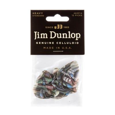 Dunlop 483P14HV Celluloid Standard Classics Heavy Guitar Picks (12-Pack)