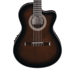 Ibanez GA35TCE-DVS Spruce/Mahogany Acoustic/Electric Nylon-String Classical Guitar Dark Violin Sunburst High Gloss