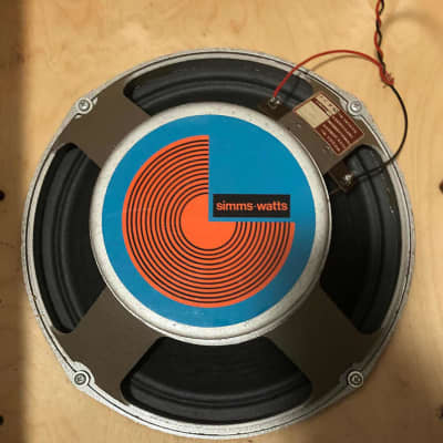 "Vintage 1971 Simms Watts 12""  Fane speaker with Pulsonic cone 50ws @ 16 ohms for sale"