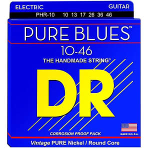 DR Strings PHR-10 Pure Blues Electric Strings - Medium, 10-46 for sale