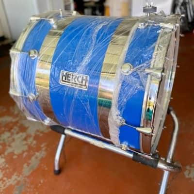"Herch Tambora Bass Drum para Banda 24"" Blue Chrome"