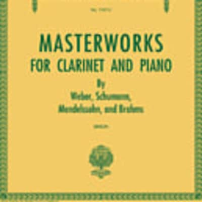 Masterworks for Clarinet and Piano: Set of Two Accompaniment CDs Schirmer's Library of Musical Classi