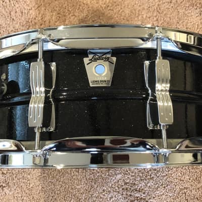 "Ludwig Limited Edition Acrolite 5x14"" 10-Lug Aluminum Snare Drum Black Galaxy"