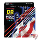 DR Neon Red White Blue Electric Guitar Strings Medium 10-46 NUSAE image