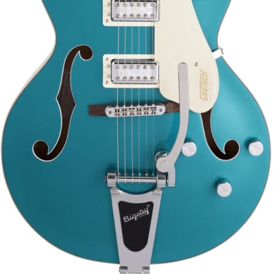 Gretsch G5410T Limited Edition Electromatic Tri-Five Hollow Body Single-Cut w/Bigsby Two-Tone Ocean Turquoise/Vintage White