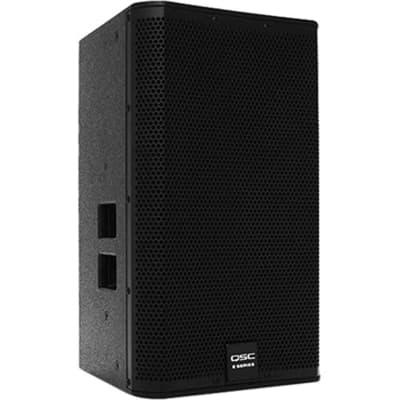 Open Box - QSC E112, 12 Inches 2-Way Externally Powered, Live Sound Reinforcement Loud Speaker - Black