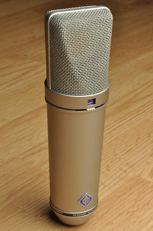 neumann u87 ai u 87 mic microphone w original wood case reverb. Black Bedroom Furniture Sets. Home Design Ideas