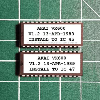 Akai VX600 OS 1.2 EPROM Firmware Upgrade KIT