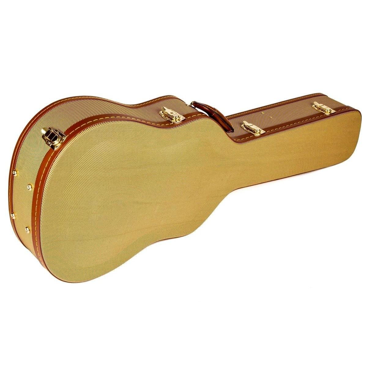 fender flat top dreadnought acoustic guitar case tweed. Black Bedroom Furniture Sets. Home Design Ideas