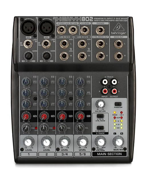 behringer xenyx 802 mixer gearnuts reverb. Black Bedroom Furniture Sets. Home Design Ideas