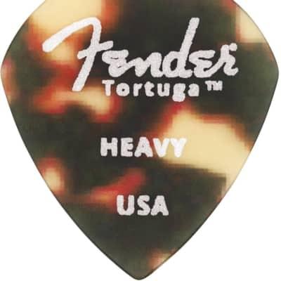 Genuine Fender Tortuga Picks 551 Heavy 6 Pack image
