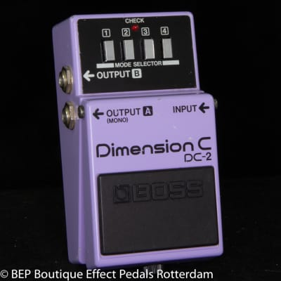 "Boss DC-2 Dimension C 1987 s/n 855752 Japan as used by Prince in "" Purple Rain """