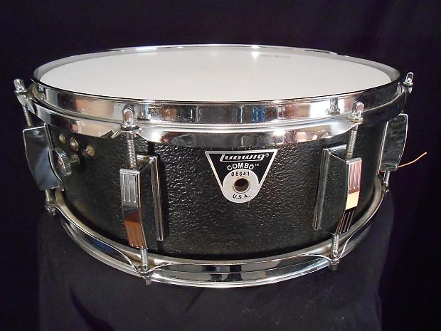 ludwig ultra rare plastic proto type 1970s black snare drum reverb. Black Bedroom Furniture Sets. Home Design Ideas