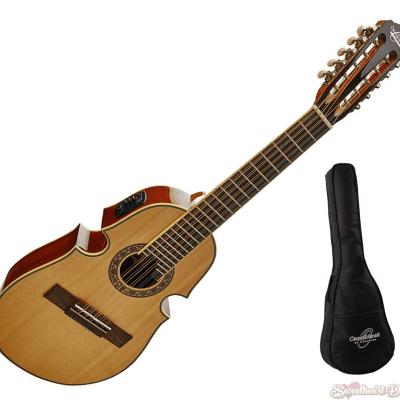 Oscar Schmidt OQ40SE Acoustic-Electric Latin Cuatro with Free Gig Bag