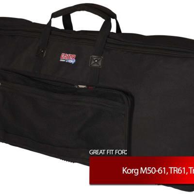 Gator Slim Keyboard Gig Bag for Korg M50-61, TR61, Triton LE 61