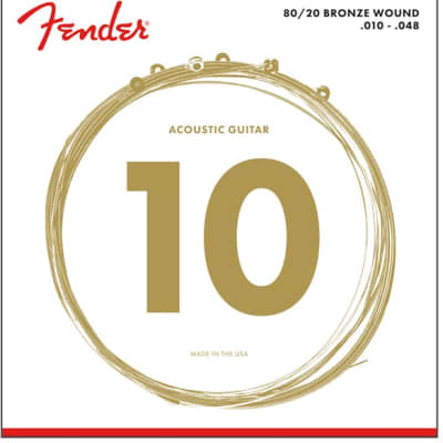 Fender 70CL Bronze Acoustic String Set, 10-48 for sale