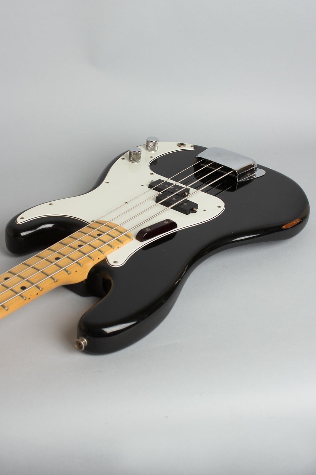 Fender  Precision Bass Solid Body Electric Bass Guitar (1975), ser. #635734, original black tolex hard shell case.