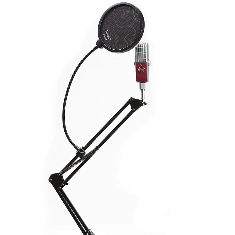 Blue Microhpones RASPBERRY Mic w Knox Boom Arm Desktop Stand and Pop Filter