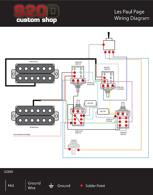 Custom New Gibson Les Paul Jimmy Page Wiring Harness