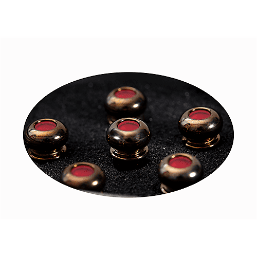 martin luxe by martin liquidmetal bridge pin set red dot gold reverb. Black Bedroom Furniture Sets. Home Design Ideas