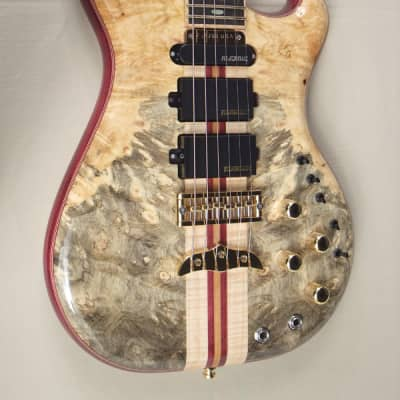Alembic Further Buckeye burl top and back/gold frets and hardware/ and loaded  with lots of  options for sale