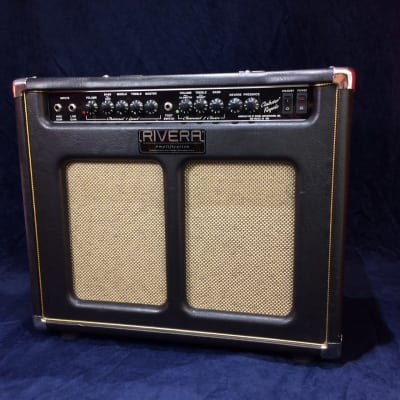 Rivera Clubster Royale 50w 1x12 Guitar Valve Combo Black/Gold for sale