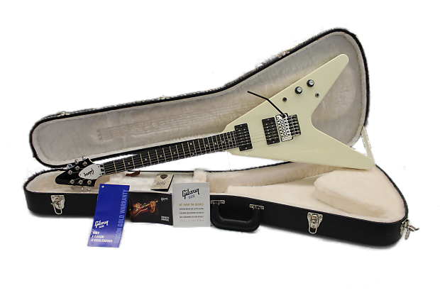gibson flying v t with floyd rose classic white reverb. Black Bedroom Furniture Sets. Home Design Ideas