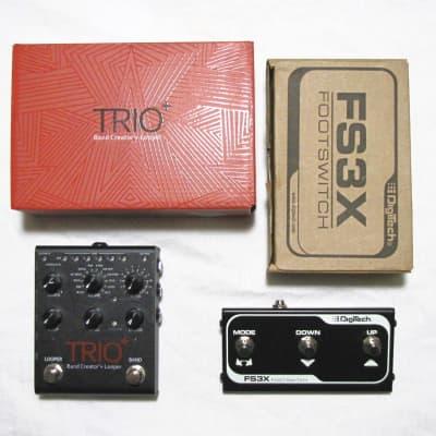 DigiTech Trio+ Band Creator Plus Looper Guitar Effects Pedal w/ FS3X Trio +