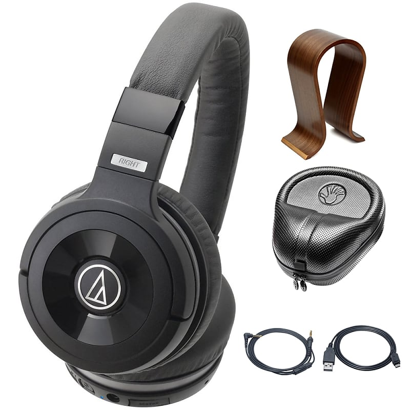 6da300f8f0c Audio-Technica Solid Bass Wireless Over-Ear Headphones with | Reverb