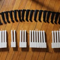 Alpha Juno 1/ HS-10 Replacement keys LOT OF 41