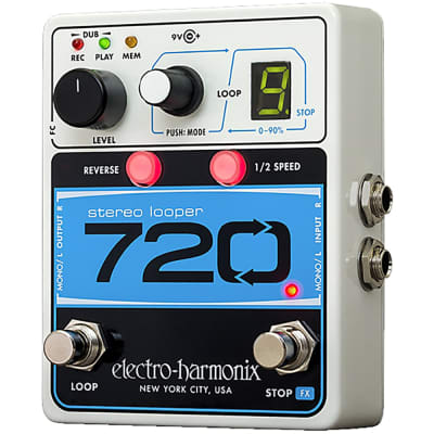 Electro-Harmonix 720 Stereo Looper Guitar Effects Pedal Looping