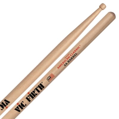 Vic Firth 5ABRL American Classic 5A Barrel Tip Drumsticks