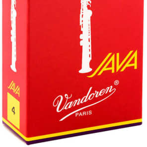 Vandoren SR304R Java Red Series Soprano Saxophone Reeds - Strength 4 (Box of 10)