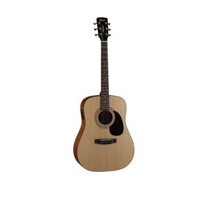 Cort AD810E OP Standard Series Spruce/Mahogany Dreadnought with Electronics Open Pore Natural
