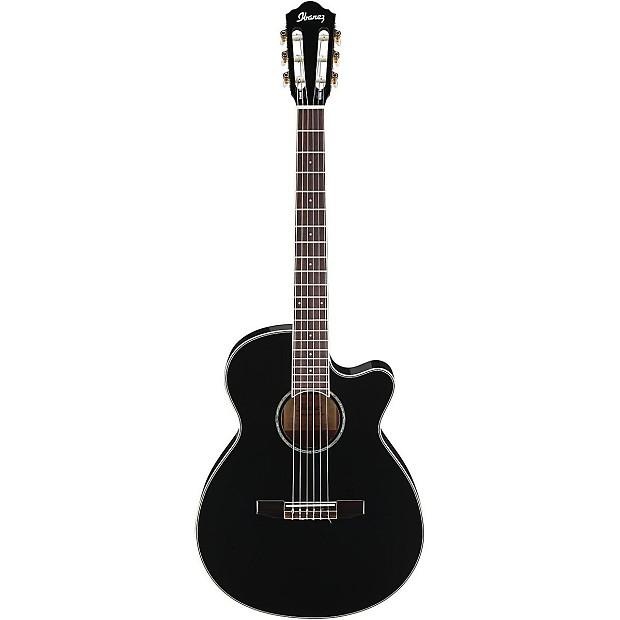 ibanez aeg10nii bk nylon strings black acoustic electric reverb. Black Bedroom Furniture Sets. Home Design Ideas