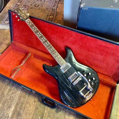 Kustom K200 deluxe electric guitar c 1968 k-200 Black zebra original vintage USA bud ross roger rossmeisl dearmond bigsby for sale