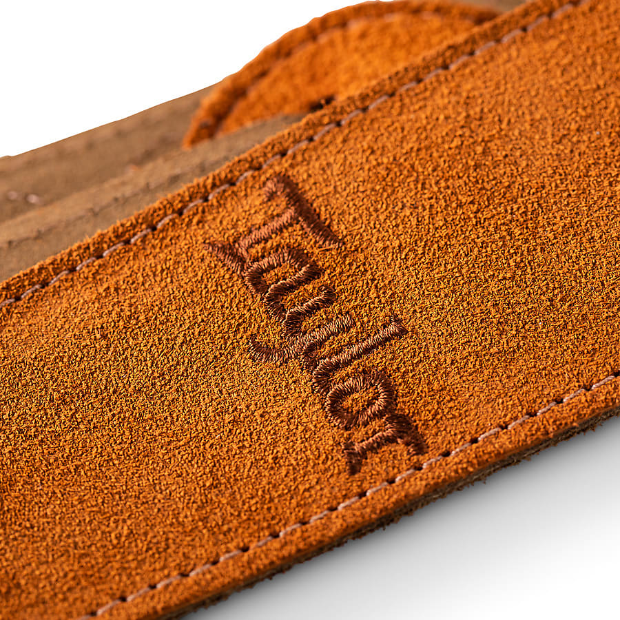 Taylor Strap, Embroidered Suede, Honey, 2.5