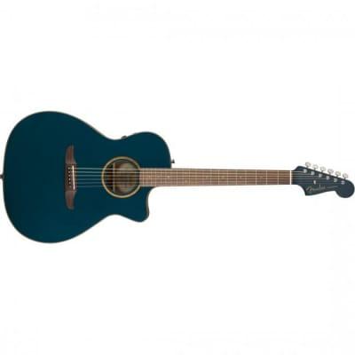 Fender California Classic Newporter Acoustic Guitar Cosmic Turquoise - 0970943299 for sale