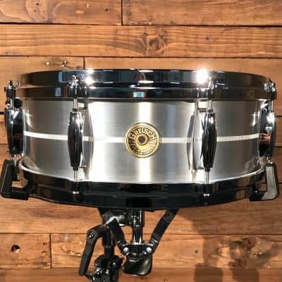"""Gretsch G4160SA 5"""" x 14"""" USA Solid Aluminum Snare Drum"""