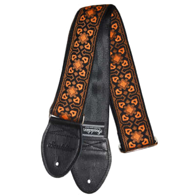 "Souldier 2.0"" Fillmore Orange / Black Custom Guitar Strap"