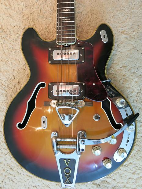 vintage 1967 vox ultrasonic xii v275 sunburst guitar near reverb. Black Bedroom Furniture Sets. Home Design Ideas