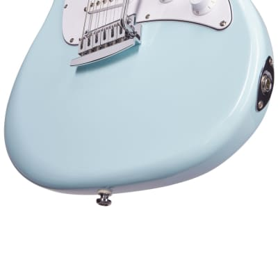 Sterling by Music Man Cutlass SSS in Daphne Blue Electric Guitar for sale