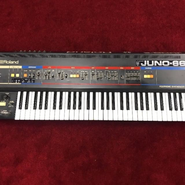 Vintage Roland Juno-6 Electric Synthesizer w / Tubbutec Midi Mod Juno 66 w/ HSC image