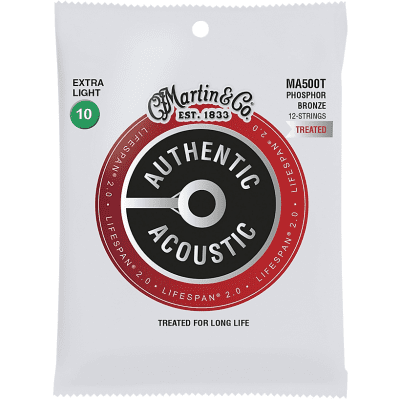 Martin Martin MA500T Lifespan 2.0 12-String Phosphor Bronze Extra-Light Authentic Acoustic (10-47)