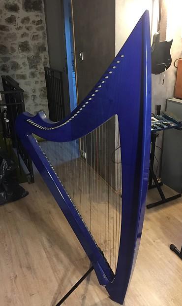 Camac DHC Blue Light 32 string Electro Harp in Blue