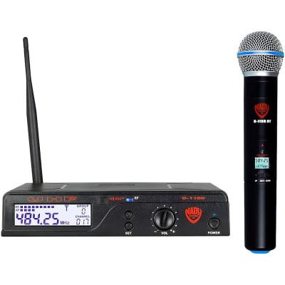 Nady U-1100-HT 100-Channel UHF Handheld Wireless Microphone System (A Band)