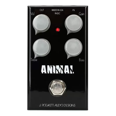 J. Rockett Audio Designs Tour Series Animal Overdrive Guitar Effects Pedal for sale